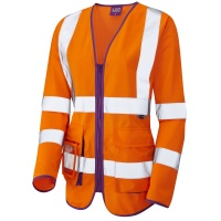 Ladies High Visibility Orange Beaworthy Superior Sleeved Vest EN ISO 20471 Class 2