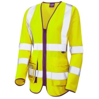 Ladies High Visibility Yellow Beaworthy Superior Sleeved Vest EN ISO 20471 Class 2