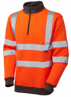 High Visibility Premium Orange 1/4 Zip Sweatshirt
