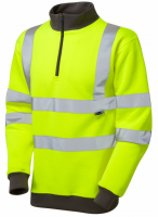 High Visibility Premium Yellow 1/4 Zip Sweatshirt