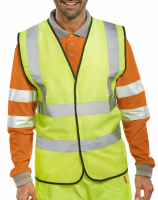 High Visibility Yellow Lightweight Waistcoat / Vest ENISO 20471 Class 2