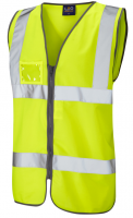 High Visibility Yellow Vest with ID Pocket