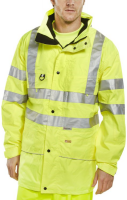 High Visibility Yellow Carnoustie Breathable Waterproof Jacket