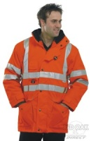High Visibility Waterproof Orange 7-in-1 Elsener Jacket
