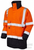 High Visibility Orange & Navy Blue Superior Waterproof Jacket - ENISO 20471