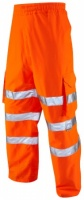 High Visibility Waterproof Breathable Orange Executive Cargo Overtrousers