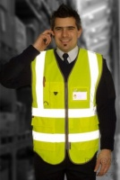 High Visibility Superior Vests In Yellow Or Orange ENISO20471 Class 2