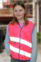 Neon Kidz High Visibility Children's Vest (Pink or Green)