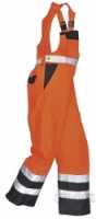 High Visibility Orange & Navy Two-Tone Bib & Brace Overall