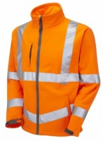 High Visibility Orange Two-Tone Interactive Softshell Jacket