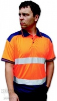 High Visibility Orange & Navy Polo Shirt