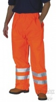 High Visibility Orange Waterproof Overtrousers EN471