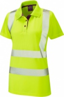 High Visibility Yellow Coolviz Plus Pippacott Ladies Polo Shirt