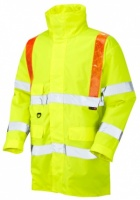 Putford Hi Vis Yellow Anorak with Orange Braces