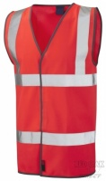 High Visibility Red Vest (ENISO 20471 Class 2.2)