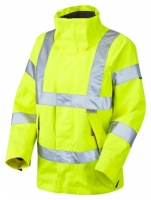 Ladies Premium High Visibility Yellow Breathable Waterproof Jacket