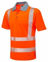 Superior Coolviz High Visibility Orange Advanced Polo Shirt