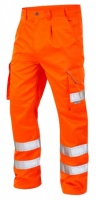 High Visibility Orange Superior Rail Spec Cargo Trousers