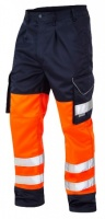 High Visibility Orange & Navy Superior Cargo Trousers ENISO 20471