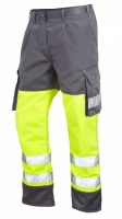High Visibility Superior Yellow & Grey Cargo Trousers ENISO 20471