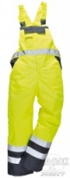 High Visibility Yellow & Navy Two-Tone Bib & Brace Overall