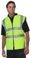 High Visibility Yellow Reversible Bodywarmer