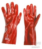 Red 14'' PVC Gauntlet